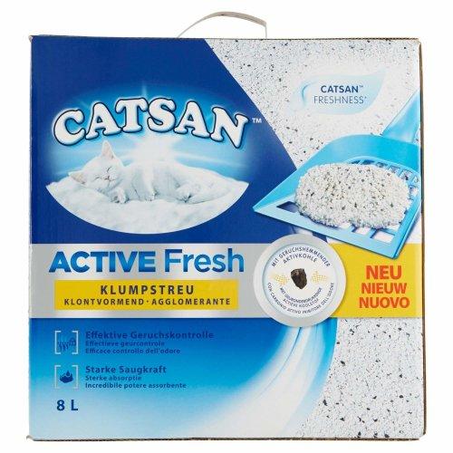 Catsan Active Fresh Clumping Cat Litter 8Litre Pack of 2x 8L