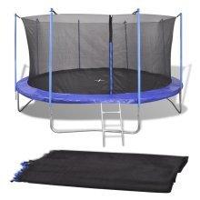 vidaXL Safety Net PE Black for 4.26 m Round Trampoline