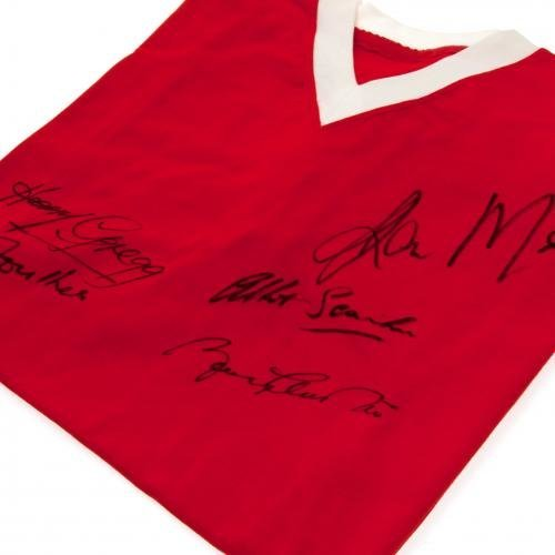 Manchester United F.C. 1958 Busby Babes Signed Replica Shirt