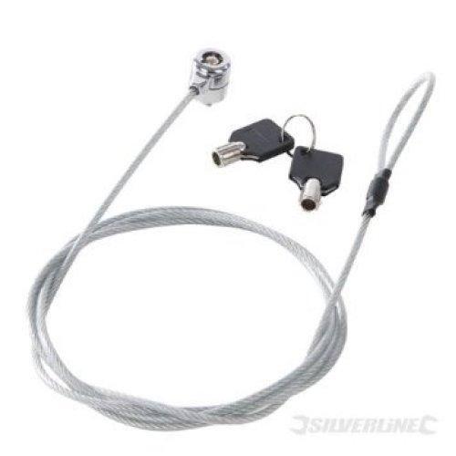 1800mm Universal Laptop Lock -  universal laptop lock 1800mm strong lightweight steel cable silverline keys