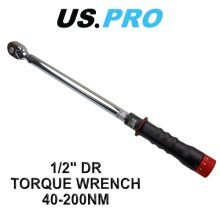 US PRO 1/2 Torque Ratchet Wrench 40 - 200 NM 6855