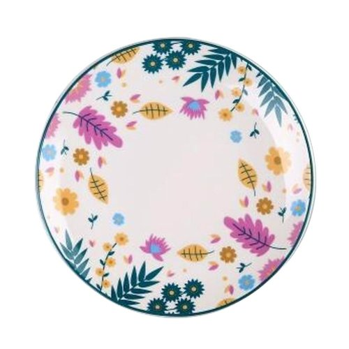 Set of 2 Ceramic Dinner Plates Beautiful Ceramic Dishes Steak Plate, Flowers