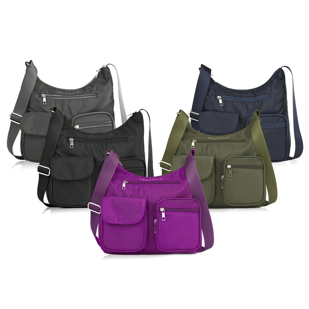 d96afee86 ... Suvelle Lightweight Carryall Travel RFID Blocking Protection Crossbody  Bag Multi Pocket Shoulder Handbag BA10 - 5 ...