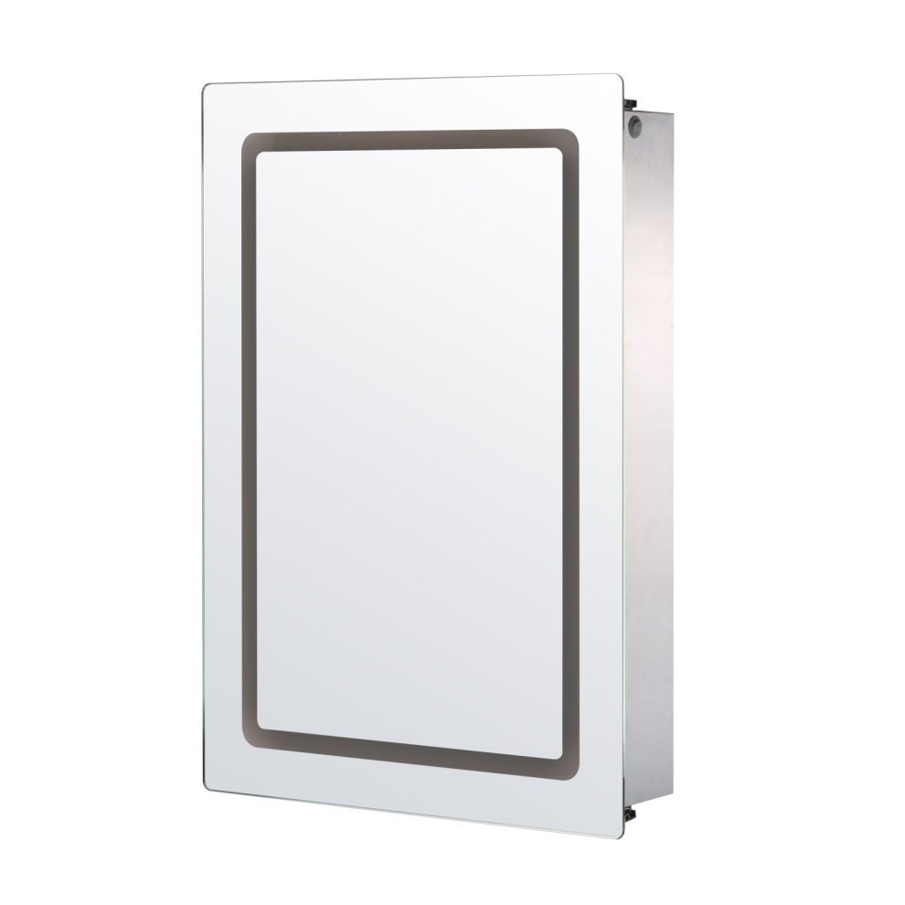 bathroom illuminated mirror cabinets homcom illuminated mirror cabinet led bathroom wall 11517