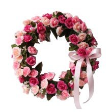 Artificial Wreath Hanging Floral Garland Door Wreath Wedding Decor #04