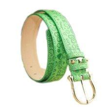 Women Fashion Printing Floral Belt Decorative Belt (83-93cm) [GREEN]