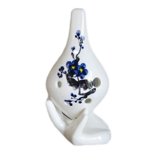 6 Hole Alto C Ocarina Ceramic Musical Instrument Beautiful Tone Beginners-012
