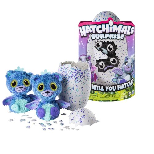 Hatchimals 6037096 Surprise Playset, magical creatures inside speckled eggs