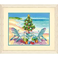 Dimensions Paint Works 7391616 Christmas on The Beach Paintbynumber Kit