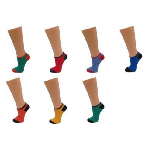10 PAIRS OF LADIES ANKLE SOCKS TRAINER LINERS SIZE 3-5 MIXED COLOURS