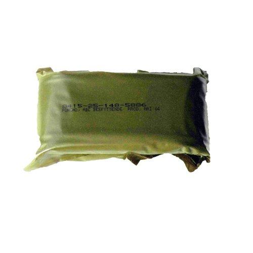 Genuine Unissued Norwegian Army Emergency Poncho -Olive Green