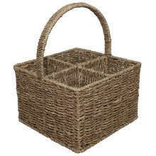 Seagrass Four Section Wine Bottle Carrier Basket
