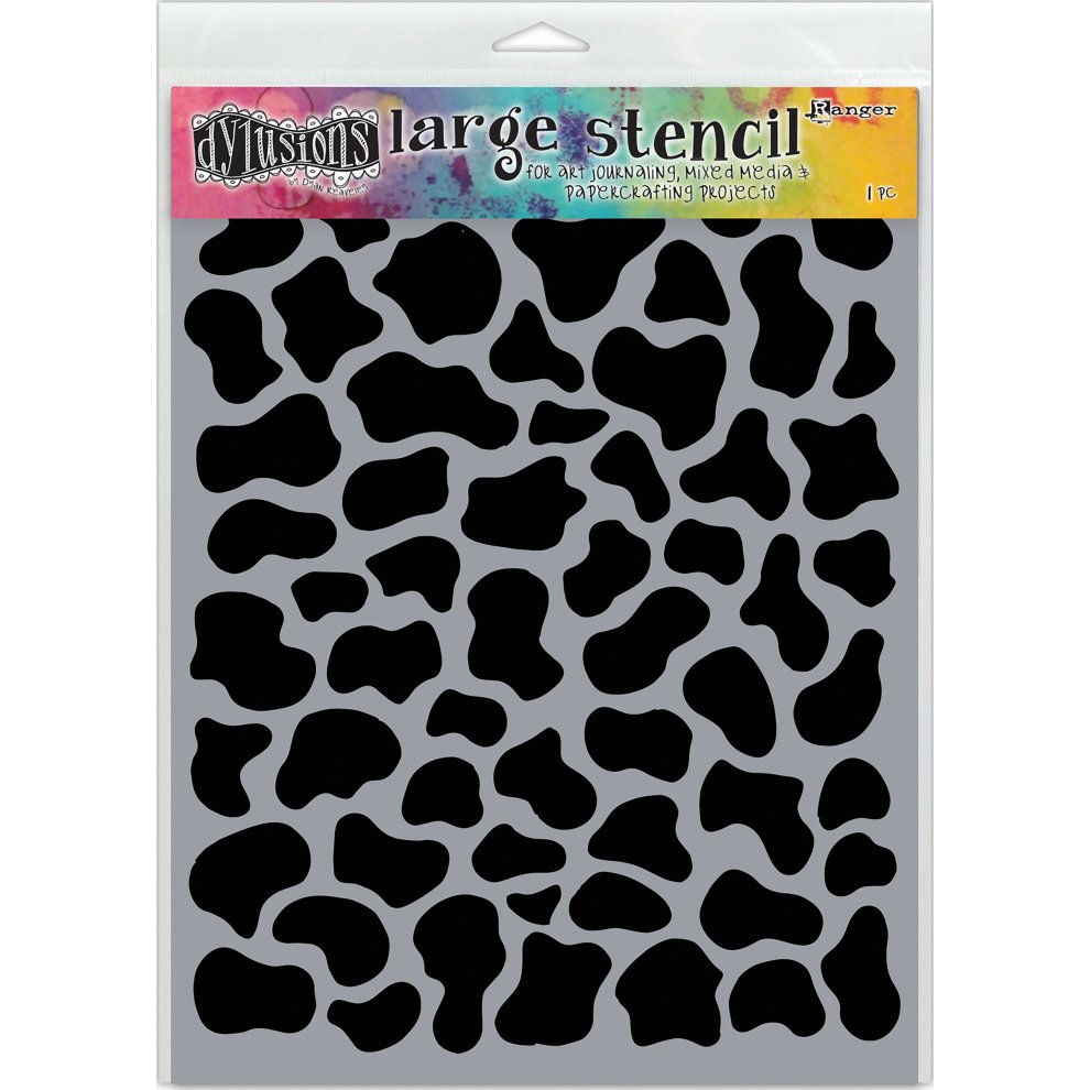 """Dys Reaveley Small Ranger Squiggle Dyan Reaveley/'s Dylusions Stencils 5/""""x8/"""""""