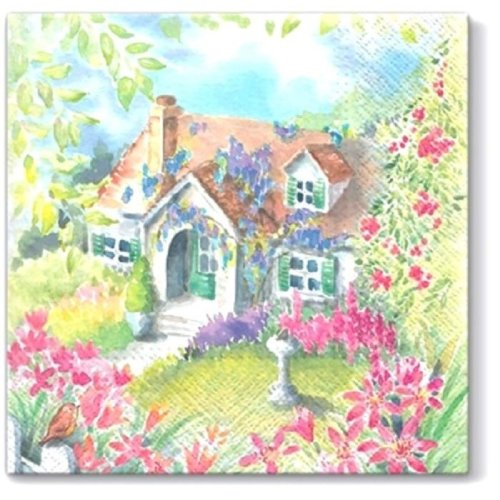 4 x Paper Napkins - House in the Country - Ideal for Decoupage / Napkin Art