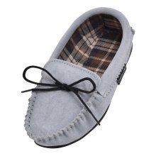 Ladies Suede Moccasin Slippers with Cotton Lining
