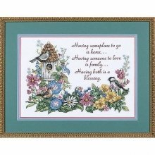 D03160 - Dimensions Stamped X Stitch - Flowery Verse