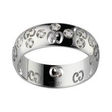 GUCCI RING ICON BOLD WHITE GOLD AND diamonds MEASURE 10 246484 J8540 9066