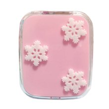 Stylish Snowflake Pattern Contact Lenses Case Nursing Holder, Random Color