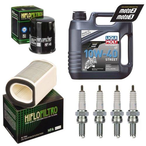 Service Kit For Yamaha FJR 1300 01-12 Oil & Air filter Oil spark plug