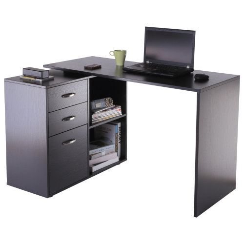 HOMCOM Computer Desk, L Shape-Black