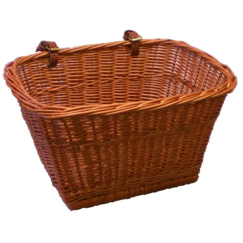 Large Handmade Willow Bicycle Basket