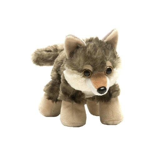 Wild Republic Hug'ems Soft Toy, Gifts for Kids, Wolf Cuddly Toy 18cm