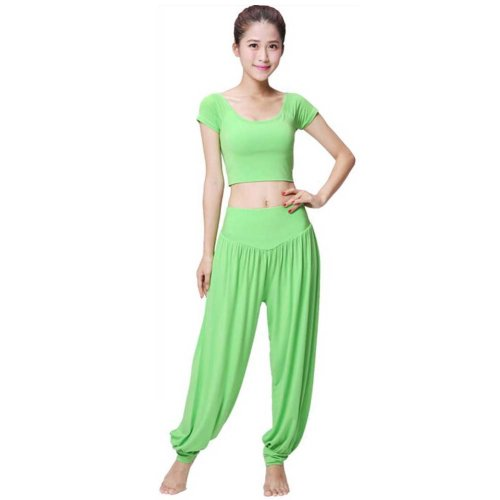Best Yoga Apparel Sexy Yoga Green Pant Gym Clothes Dance Outfit Fitness Suit