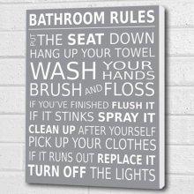 Bathroom Rules Wall Picture Bathroom Wall Art