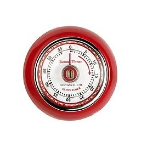 7cm Red Retro Magnetic Timer - Eddingtons Kitchen -  retro magnetic timer red eddingtons kitchen