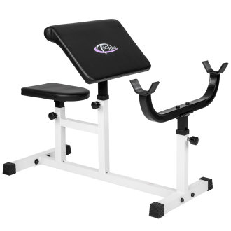 Bicep curls weight bench