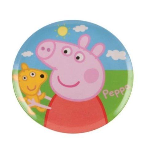Peppa Pig Childrens Kids Melamine Plate Lunch Dinner Snack Food Parties Gift