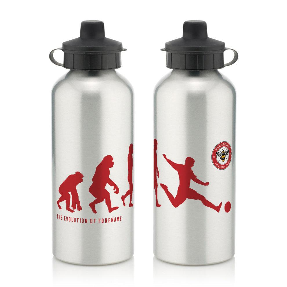 Official Personalised Brentford Evolution Water Bottle