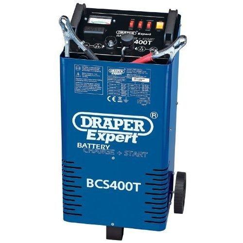 230v Batt.chrgr/strtr+trolley - Draper Battery 400a 1224v Startcharger Expert -  draper battery 400a 1224v startcharger expert 07263 trolley