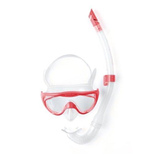Speedo Unisex JuniorGlide Mask and Snorkel Set, Pink, One