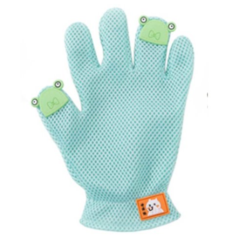 Pet Grooming Glove Gentle Deshedding Brush Glove Five Finger Design Green