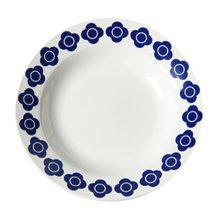 Modern Design Blue Pattern Classic Dinnerware Plates Dessert Salad Steak