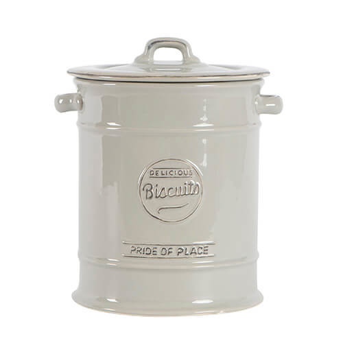 T&G Woodware Pride of Place Ceramic Biscuit Jar in Cool Grey
