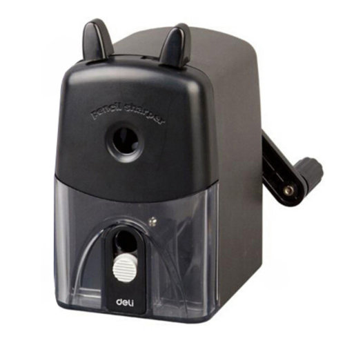 Pencil Sharpener, Black, Quiet for Office, Home and School