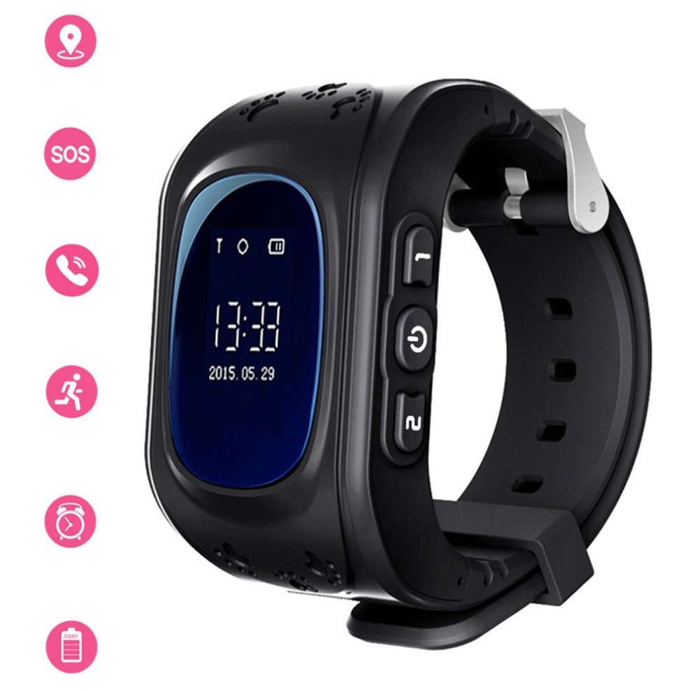 2f8e3401d6 Kids Smartwatch GPS Tracker Anti-Lost Wrist SIM SOS Call Voice Chat Phone  Pedometer by Parent Control IOS Android Smartphone App (Palmtalkhome Q50)...
