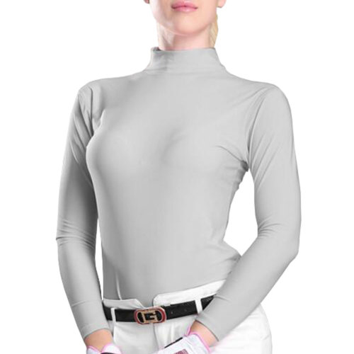 Womens Golf Ice Silk Shirts Outdoor Sun Protective Clothing ?Random Gray?