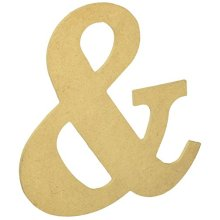 """Mdf Classic Font Wood Letters & Numbers 9.5""""-&"""