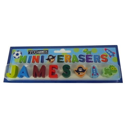 Childrens Mini Erasers - James