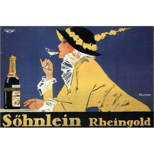 Advertising poster - Söhnlein Rheingold - High definition printing on stainless steel plate