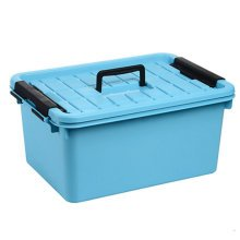 Durable Household Storage Basket Box Organizer Chest with Handle, Blue