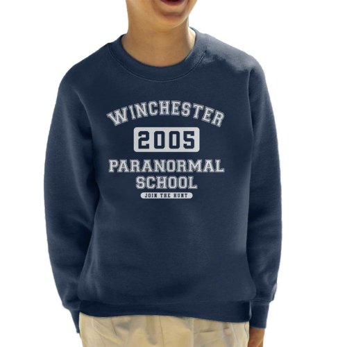 Winchester Paranormal School Varsity Text Kid's Sweatshirt