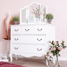 Tuscany Antique White 3 Over 2 Chest