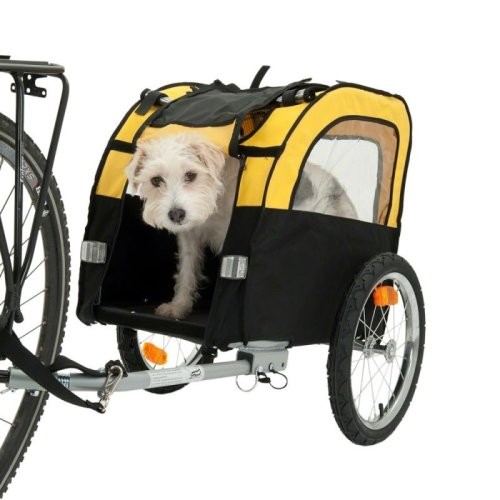 Dog Bike Trailer Sturdy Space Saving
