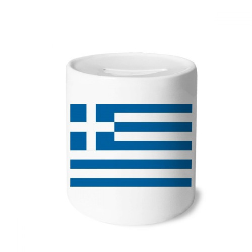 Greece National Flag Europe Country Money Box Saving Banks Ceramic Coin Case Kids Adults