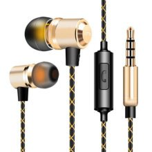 Wired Metal In Ear Headphones Earbuds Noise Isolating Headset #02