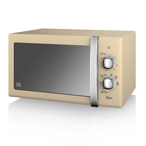 Swan Retro Manual Microwave 20 Litre 800 Watt - Cream (Model No. SM22130CN)